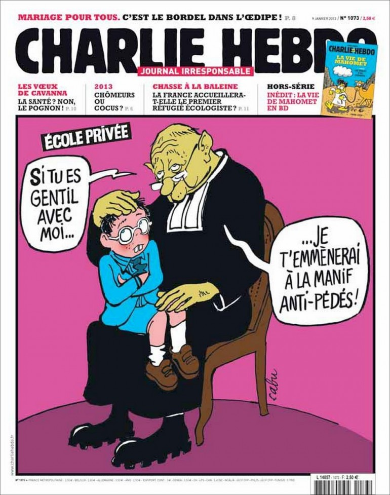 (charlie hebdo, copertina - 9 gennaio 2013)