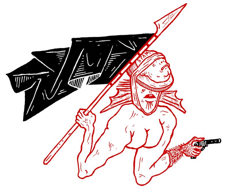 (disegno di guerrilla spam)